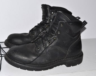 Vintage mens Red Wing shoes size 10D USA black leather boots working hiking boots Made in USA
