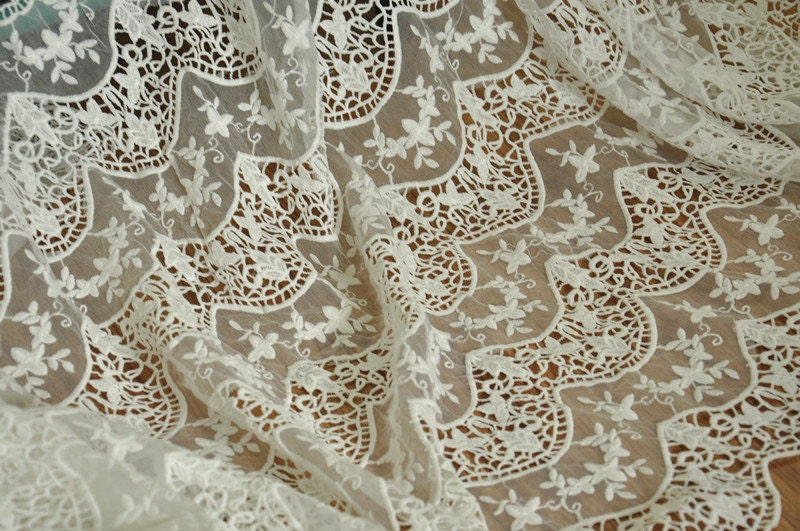 White bridal lace fabric wedding gown fabric crochet for White lace fabric for wedding dresses