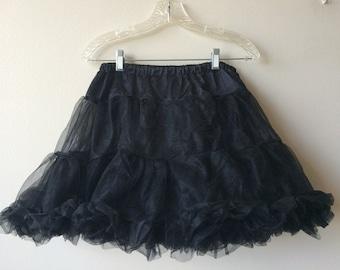 Vintage Black Petticoat Voluminous Crinoline