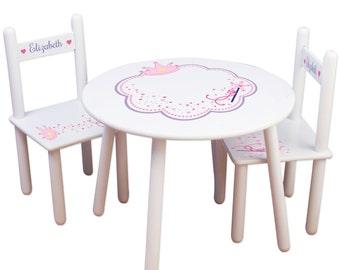 Girls Princess Table Amp Chair Set Frozen Kids Furniture