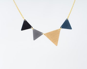nice pennant necklace gold small