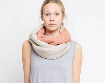 merino color block scarf // sand - rost