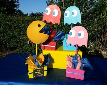Pac Man Inspired Centerpieces