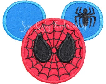 Mouse Head Applique Embroidered Patch, Sew or Iron on