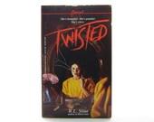 Twisted R. L. Stine Book Vintage 1987 Young Adult Paperback Teen Psychological Thriller