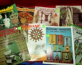 Lot of 8 Macrame Booklets, Plant Hangers, Owls