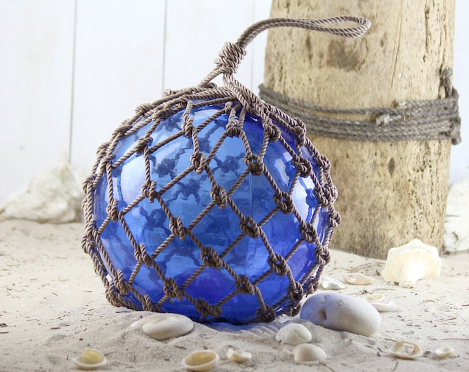 "Beach Decor Cobalt 12-13"" Fishing Float by SEASTYLE"