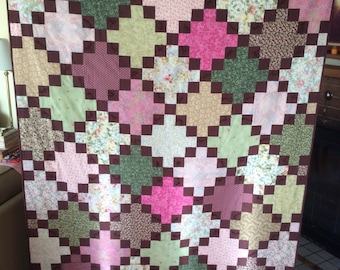 Quilt in Pink & Green