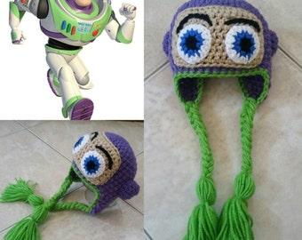 Crochet Toy Story Buzz Lightyear Beanie