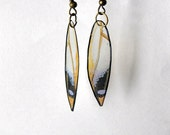 Handcrafted Butterfly Wing Earrings, Jewelry, 14k Gold, Hypoallergenic, Sterling Silver, Fish Hook, Clear wings, Multi Color