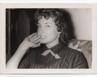 Vintage Photo Of A Pretty Woman Mid Century Modern Fashion Photograph Paper Ephemera Fashionista
