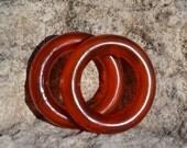 Red horn rings HB002