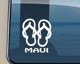 Slippers Maui Decal Maui Beach Sticker 291