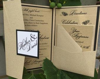 Vineyard Wedding Invitation Suite