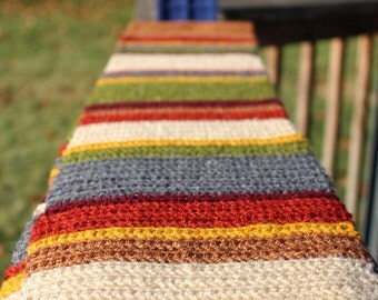 SUMMER SALE! 7 foot long Doctor Who 4th Doctor Scarf - Season 12, 12.5, 13, 14, Romana or Osgood