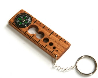Key Chain Ruler Compass Multi-Tool