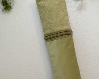Apple Green Christmas Stocking