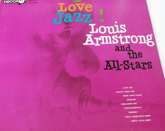Louis Armstrong I Love Jazz and the All Stars - Promotional Vinyl LP Record on Decca DL 4227 - Jazz