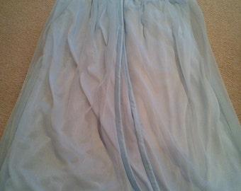 Vintage baby blue St Michael double nylon nightie - 34/36 Bust ( Size 10-12)