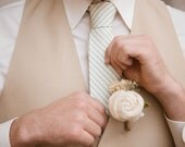 Ivory Sola Flowers Boutonniere- Groom Wedding, Buttonhole, Groomsmen, Wedding, Wedding Flowers