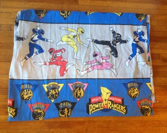 Vintage 1994 Power Rangers flat twin sheet