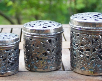 Silver plate canister set