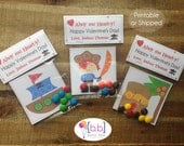 Valentine's Day Card Personalized- Pirates- Candy Treat Bags- Printabe or Shipped