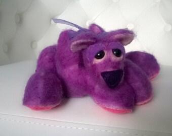 Fuzzy Purple Artist Teddy Bear Stuffed Animal Cute Gift Ooak Plush Plushie Soft Softie