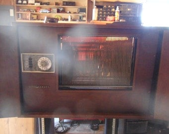 Rare Seeburg AP-1 Record Player Library unit , stores and plays 50 lp records - needs a bit of work