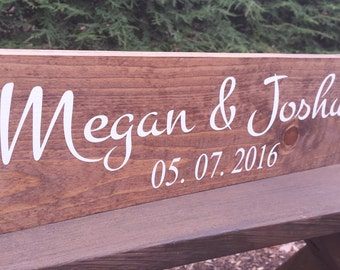 Rustic Wedding Sign, Rustic Wedding, Personalized Sign, Name and Date Sign, Family name sign, Custom Wood Sign, Wood Sign, Save the Date