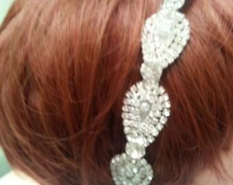 Rhinestone Bridal Hairband, Hair Jewelry, Bridal Band, Hair Accessories.
