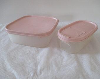 Tupperware Modular Mates Storage Containers - Pink Tupperware