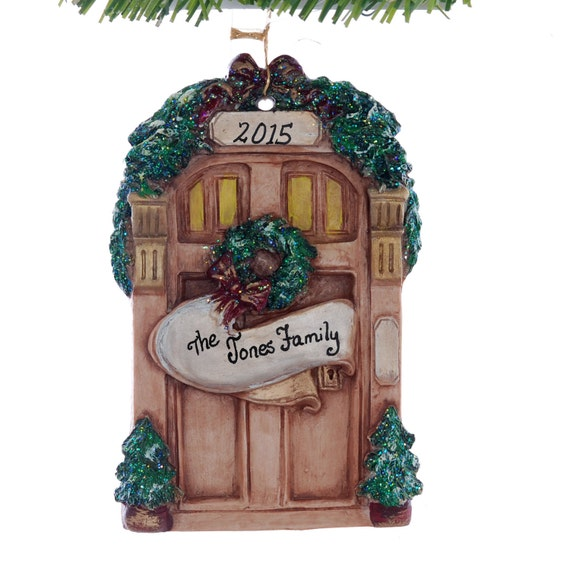 Personalized front door christmas ornament perfect for the for First apartment ornament