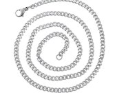 """Stainless Steel Necklace - Curb Chain - 20 4/8"""" - Ships IMMEDIATELY from California - CH497"""