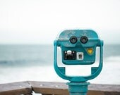 Ocean Picture, Travel Photo, Modern Beach House Decor, Venice Fishing Pier Photograph, Turquoise Blue Artwork, Viewfinder Photography