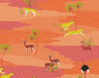 Blend Fabrics - In the Sahara - Sahara Desert Coral
