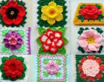Instant Download E-Book with Crochet Patterns - Best of Blocks