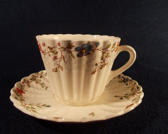 Copeland Spode Wicker Dale Saucer and Cup 3 3/4""