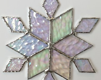 stained glass snowflake suncatcher (design 33B)