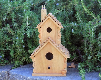 Double Decker birdhouse, wine cork art