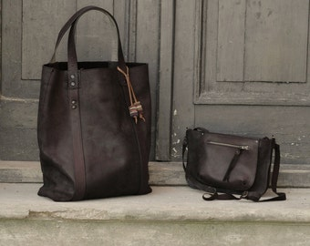 Black matt  oversized giant tote bag /set with small purse Ladybuq