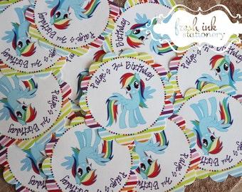 My Little Pony Birthday Personalized Stickers