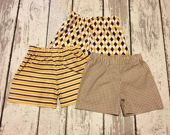 LSU Tigers purple and gold boys shorts, purple and gold boys shorts, baby boy LSU tigers shorts, LSU tigers shorts, purple and gold