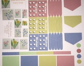Botanic Beauty sticker set #1- planner diary scrapbook school books- week theme-OVER 60 stickers - Erin Condren and Happy Planner compatible