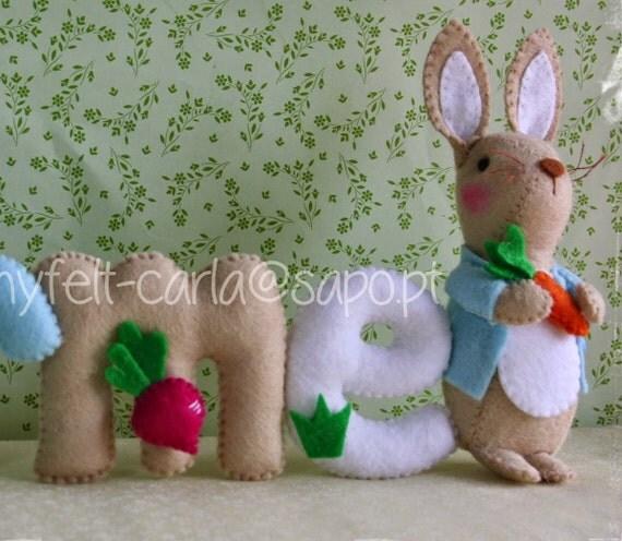 Felt Name Banner Peter Rabbit Baby 39 S Room Decor By