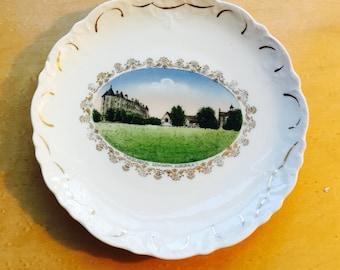 vintage Auburn NY Theological Seminary porcelain dish