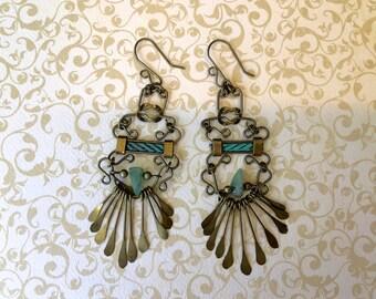 Beautiful Bohemian Styled Vintage Dangling Earrings