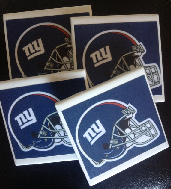 Ny Giants Man Cave Decor : Nfl new york giants set of drink coasters by