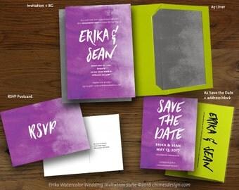 ERIKA (Watercolor) Invitation Suite Printables
