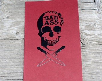 Skull Culinary Bad Ass Lined Vinyl Decal Journal